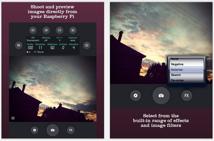 BerryCam app til at tage billeder på Raspberry Pi via iPhone