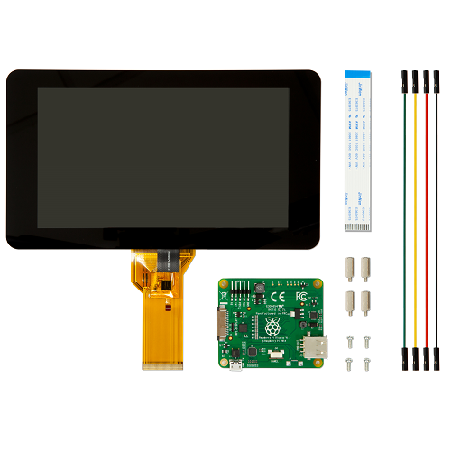 raspberry pi officiel touch screen 7 tommer