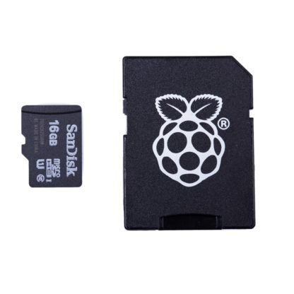 16 gb micro sd kort med noobs og sd til mikro sd adapter