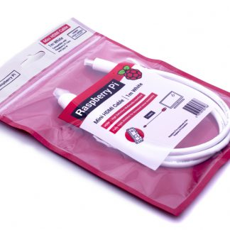 raspberry pi mini hdmi til hdmi kabel 1 meter hvid