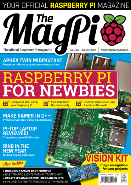 MagPi 65 raspberry pi magasin