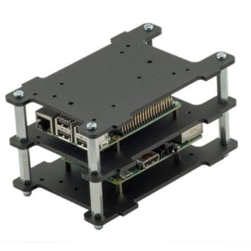 multi pi black case for stacking multiple raspberry pi