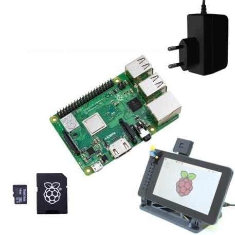 display startpakke raspberry pi 3 model b plus