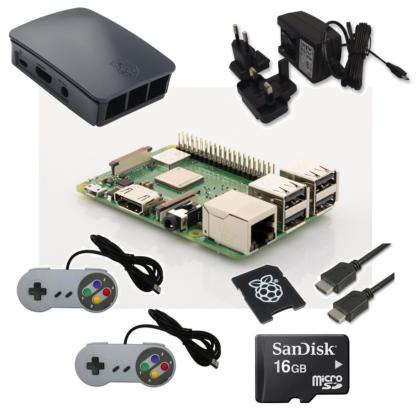raspberry pi 3 model b+ retro konsol startpakke