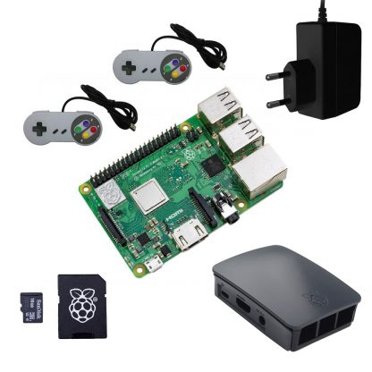 retro konsol raspberry pi 3 model b plus startpakke