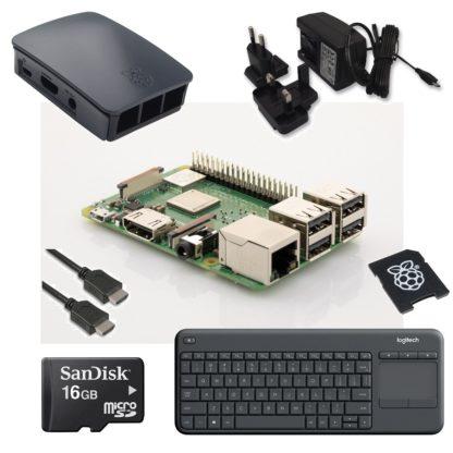 raspberry pi 3 model b+ startpakke med tastatur