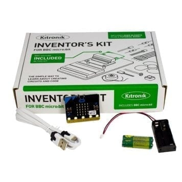 bbc micro:bit with inventors kit and accessories