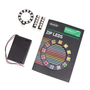 zip led add on pakke inventors kit led sticks og ring