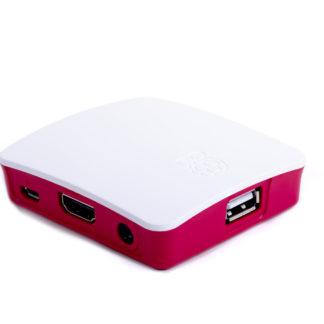 officielt case raspberry pi 3 a+ hvid rød