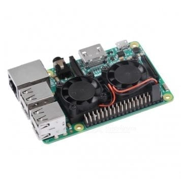 raspberry pi dual fan active cooling