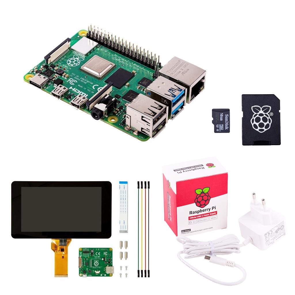 touchscreen display starter kit raspberry pi 4 model b