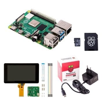 touchscreen display starter kit raspberry pi 4 model b