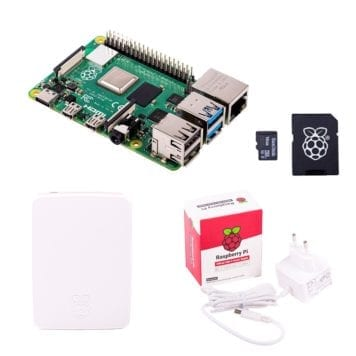 raspberry pi 4 model b start package white