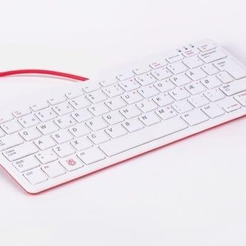 raspberry pi tastatur - dansk - rød/hvid